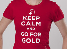 T-Shirt Keep calm and go for gold