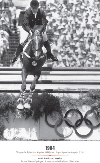 Jeux Olympiques Los Angeles (USA) 1984 - Heidi Robbiani, Jessica - Bronze en individuel saut d'obstacles