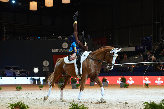 Grand engagement pour le sport équestre Suisse. /Photo: Lukas Heppler à Madrid (FEI).