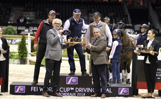 France, Bordeaux : Jérôme VOUTAZ (SUI) during Finale - International  Jumping of Bordeaux, ring the FEI World Cup Drivon February 4, 2018, in Bordeaux, France - Photo Christophe Bricot