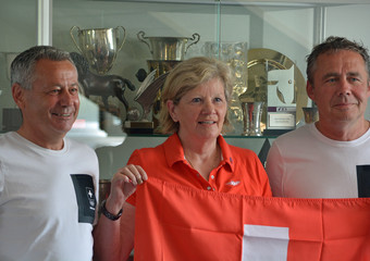 Andy Kister (Equipenchef Springen), Geneviève Pfister (Dressur), Dominik Burger (Equipenchef Concours Complet)