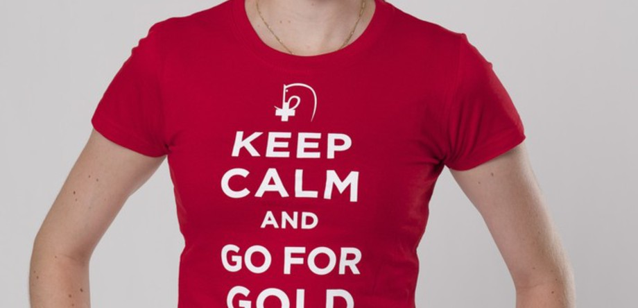 T-Shirt Damen Keep calm and go for gold