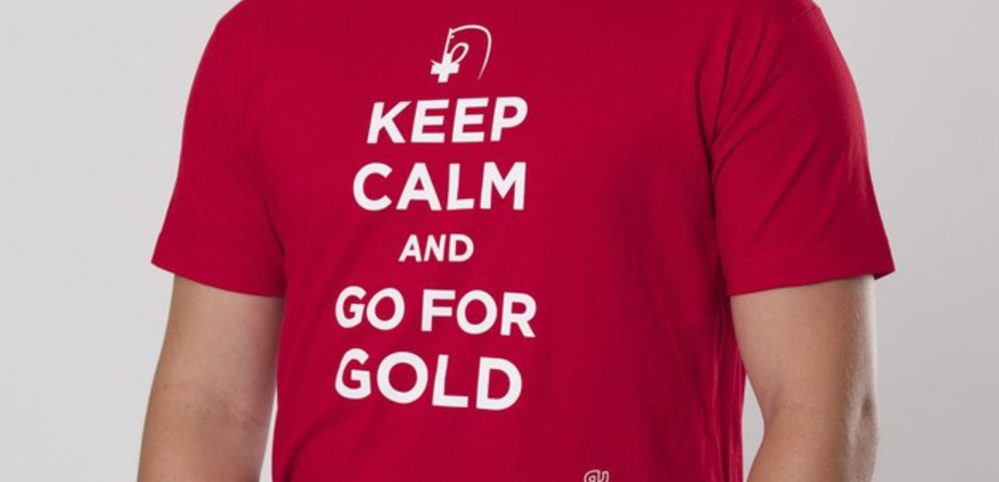 T-Shirt Herren Keep calm and go for gold